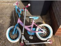 Old jd bug and old girls bike (no stabilisers)