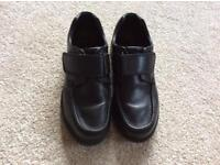 Boys soft black leather school shoes from M&S