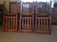 Hard wood Dinning Chairs x 5/6
