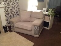 Large Sofa, Oversized Chair and Footstool