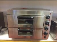 NEW COMMERCIAL TWIN DECK ELECTRIC PIZZA OVEN -IN0157