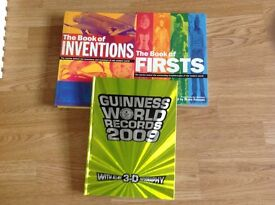 Guinness book of records & factual books on Inventions