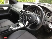Mercedes c220 CDi AMG auto sport pearlescent white low mileage full service history 1years mot