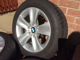 Genuine BMW Alloy Wheels fitted with Winter Tyres
