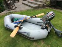 Inflatable dinghy & outboard