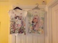 Girls t-shirts age 9-10 years