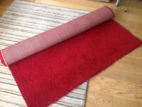 Red floor rug