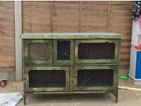 Brand new 4 ft 2 tier rabbit hutch in green