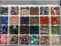 Selection of glass and lamp work beads