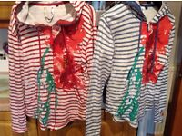 2 x DESIGUAL hooded zipper tops size 12-16 due to tie at back. REDUCED £9 EACH or BOTH for £10 !!!!!