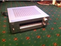SONY INTEGRATED RECEIVER AMPLIFER. EXCELLENT CONDITION-SILVER IN COLOUR-