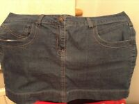 Short Denim Skirt, Size 16.