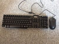 Dell keyboard and mouse. Hardly used