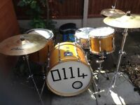 Premier Maple Wood Drum Kit with Hardcase and extras