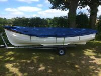 Orkney Longliner fishing/day boat with roller trailer and cover