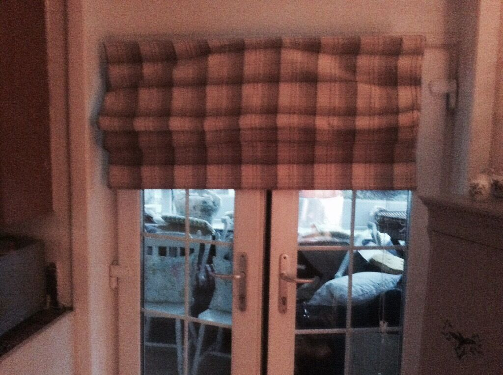 Highland Check Roman Blind For Sale Sold In Kilmarnock