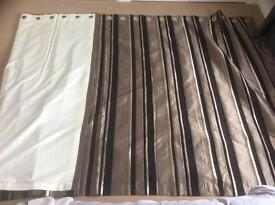 Quality heavy duty curtains. Cost £1800 new. 220cm drop.