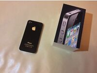 EXCELLENT CONDITION BLACK I PHONE 4 ON ANY NETWORK