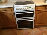 Hotpoint Creda Electric Fan Double Oven Cooker Good condition Available 23rd January