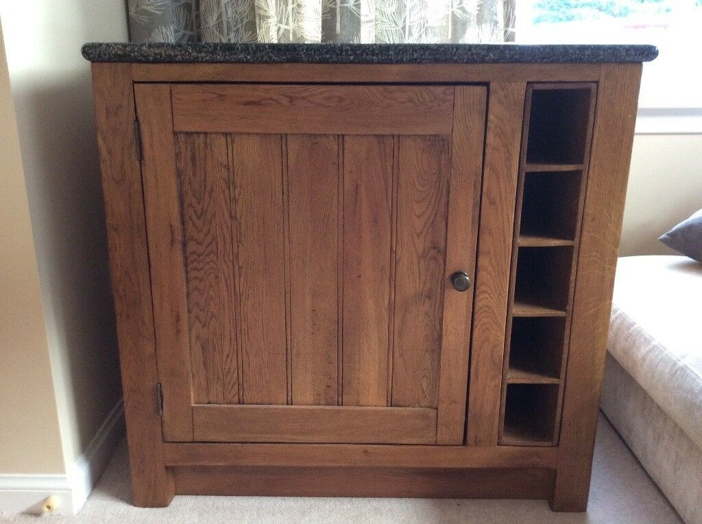 Sideboard/Drinks Cabinet with Solid Stone Top