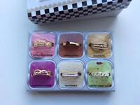 Set of 6 fashion jewellery toe rings