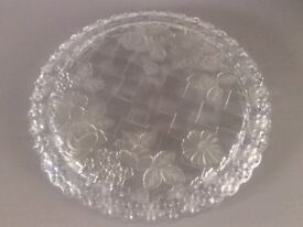 Large Glass Cake Stand