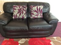 3 pieces black leather suite sofas for sale!
