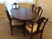 Dining table and 4chairs and 2 carver chairs
