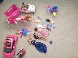 Various Barbie items