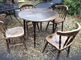 Table and 4 chairs perfect for upcycle to keep or sell