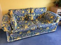 Two seater sofa and single chair