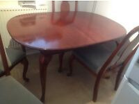 Table and 4 chairs, expands. Good condition. Buyer collects