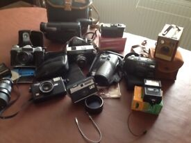 FOR SALE. Collection old cameras