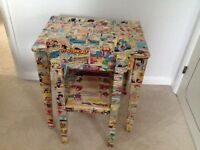 Beano Decoupage Child's Desk and Chair