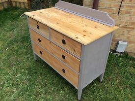 EARLY VINTAGE FOUR DRAWER CHEST