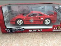 Ferrari F40 60 year celebration model 1/18 in Red by Hotwheels