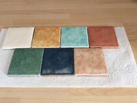 Coloured Ceramic Spanish Tiles