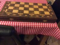 A magnificent boxed chess set