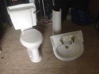 Toilet and sink (2 sets available)