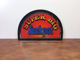 Super big jackpot arcade machine glass - wall art - man cave