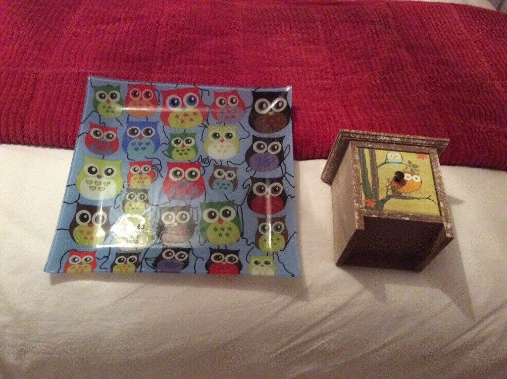 Owl plate and small box