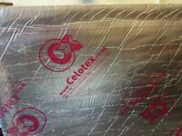 2 full size sheets of Celotex insulation boards, 50mm thick