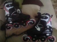 In-line skates adjustable size 1-4