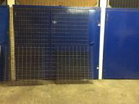 Steel walkway, open mesh flooring