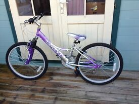 NEW PRICE Girls falcon Tahiti bicycle purple and silver £40 Ono
