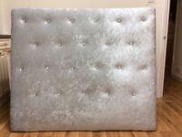 Crushed velvet diamonte 48inch high new headboard