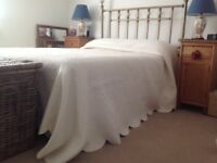 John Lewis Cream Superking Bedspread