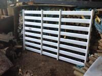 Durolock plastic gate with posts