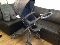 Stokke Xplory Pram - Chassis, Carrycot, toddler seat & accessories