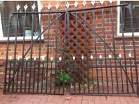 Pair Of Wrought Iron Antique Gates Made By W.Lougher in Plymouth